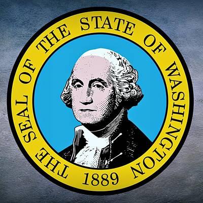 Charles Digital Art - Washington State Seal by Movie Poster Prints