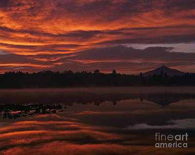 Pilchuck Photograph - Washington State Sunrise by Jim Corwin
