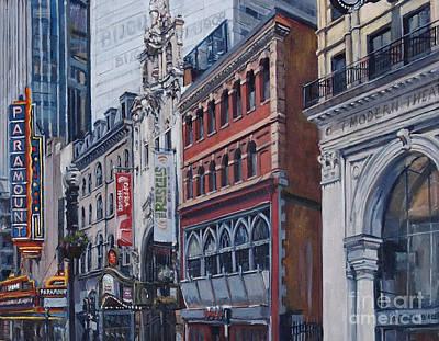 Felt Painting - Washington Street In June by Deb Putnam