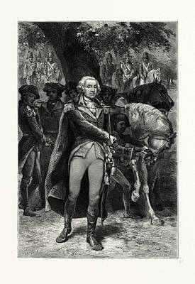 George Washington Drawing - Washington Taking Command. George Washington 17321799 by American School