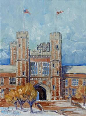 St. Louis Painting - Washington University - Winter Morning by Irek Szelag