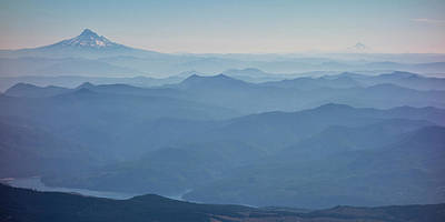 Fading Photograph - Washington View From Mount Saint Helens by Matt Freedman
