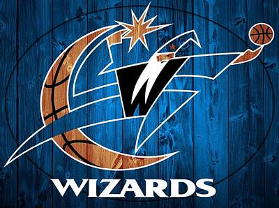 Washington Dc Mixed Media - Washington Wizards Barn Door by Dan Sproul