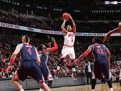 Photograph - Washington Wizards V Chicago Bulls by Joe Murphy