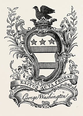 Bookmarks Wall Art - Drawing - Washingtons Bookmark, United States Of America by American School