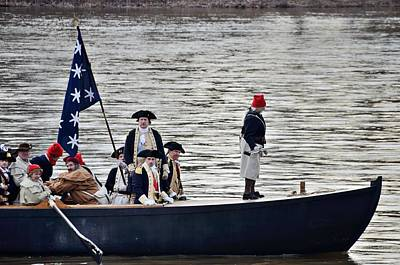 Washington's Crossing Washington's Boat Art Print by Steven Richman