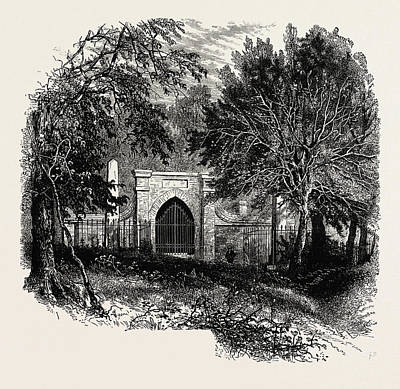 Vern Drawing - Washingtons Grave, Mount Vernon, United States Of America by American School