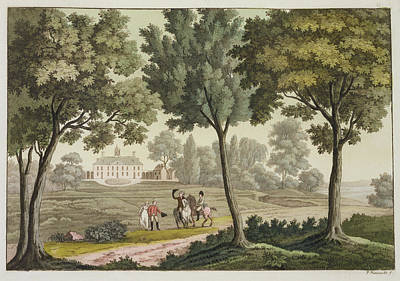 Horse Drawing - Washingtons House At Mount Vernon by Paolo Fumagalli
