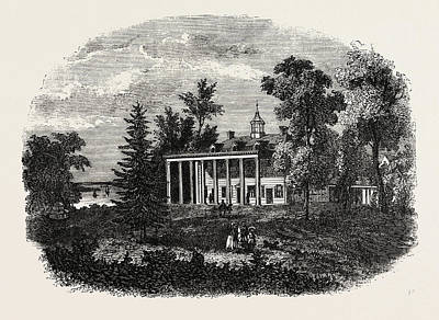 Vern Drawing - Washingtons Residence, Mount Vernon, United States by American School