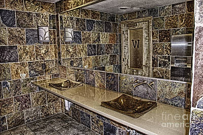 Powder Room Sinks Photograph - Washroom Reflections by Patricia Trudell