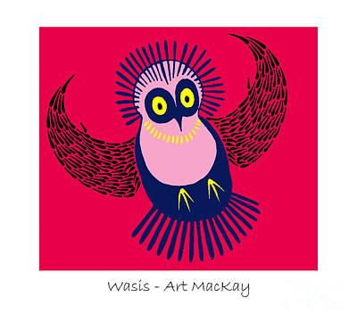 Mixed Media - Wasis by Art  MacKay