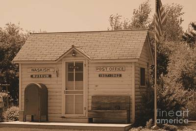 Photograph - Waskish Post Office In Sepia by Mark McReynolds