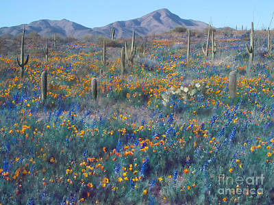 Wall Art - Photograph - Wasson Peak Flowers by Susie Gillatt