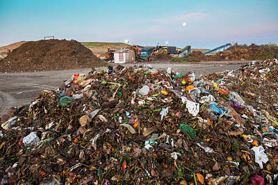 Waste Photograph - Waste At Composting Recycling Facility by Peter Menzel