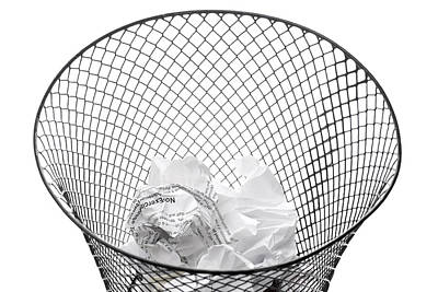 Ball Pen Work Photograph - Wastepaper Basket On Side Spilling Contents by Donald  Erickson