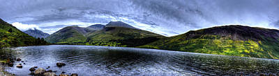 Wastwater Panorama Art Print by Chris Whittle