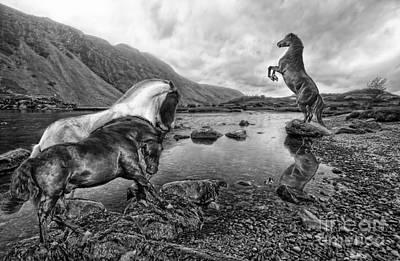 Fell Digital Art - Wastwater Wilderness by Wobblymol Davis