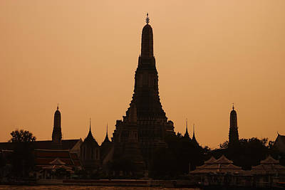 Temple Photograph - Wat Arun by Adam Romanowicz
