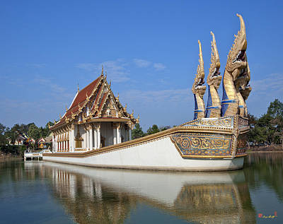 Photograph - Wat Ban Na Muang Naga-headed River Barge Wiharn Dthu174 by Gerry Gantt