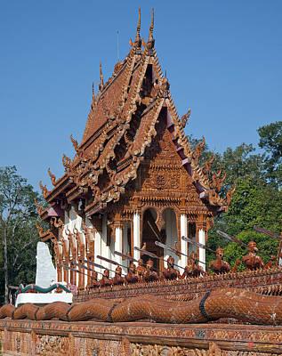 Photograph - Wat Ban Na Muang River Barge Ubosot Dthu165 by Gerry Gantt