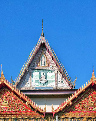 Photograph - Wat Ban Tha Kok Hae Ubosot Gable Dthu677 by Gerry Gantt