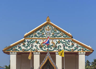 Photograph - Wat Bang Phueng Phra Ubosot Gable Dthb1865 by Gerry Gantt