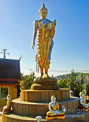 Painting - Wat Buddhi Chino Hills - 01 by Gregory Dyer
