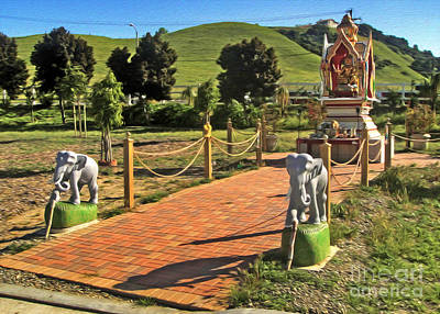 Painting - Wat Buddhi Chino Hills - 03 by Gregory Dyer