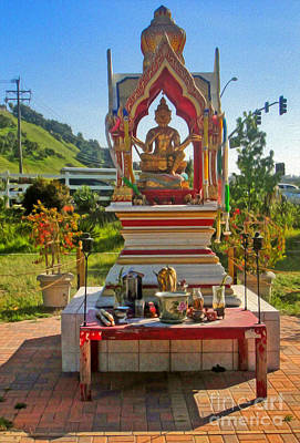 Painting - Wat Buddhi Chino Hills - 04 by Gregory Dyer