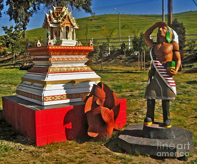 Painting - Wat Buddhi Chino Hills - 05 by Gregory Dyer