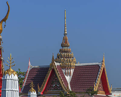 Wat Bukkhalo Spire And Gables Dthb1823 Art Print by Gerry Gantt
