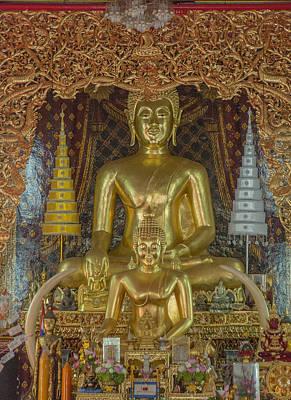 Photograph - Wat Chai Monkol Phra Ubosot Buddha Images Dthcm0849 by Gerry Gantt