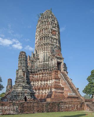 Photograph - Wat Chaiwatthanaram Central Prang Dtha085 by Gerry Gantt