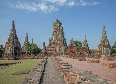 Photograph - Wat Chaiwatthanaram Ubosot Area Dtha082 by Gerry Gantt