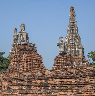 Photograph - Wat Chaiwatthanaram Ubosot Buddha Images Dtha0191 by Gerry Gantt