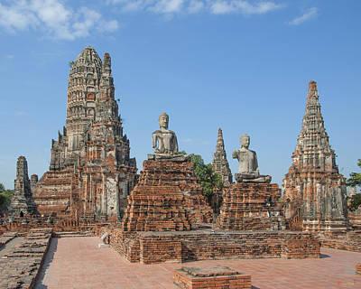 Photograph - Wat Chaiwatthanaram Ubosot Buddhas Dtha050 by Gerry Gantt