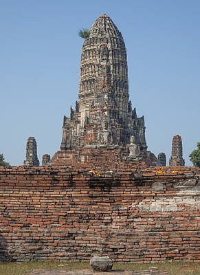Photograph - Wat Chaiwatthanaram Ubosot Platform And Buddha Images Dtha0189 by Gerry Gantt