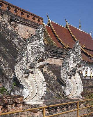 Photograph - Wat Chedi Luang Phra Chedi Luang Five-headed Naga Dthcm0052 by Gerry Gantt