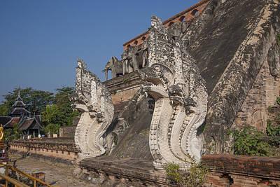 Photograph - Wat Chedi Luang Phra Chedi Luang Five-headed Naga Dthcm0054 by Gerry Gantt