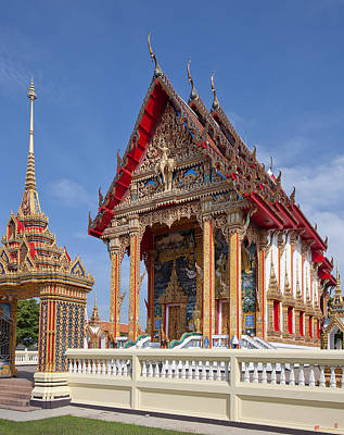 Photograph - Wat Choeng Thalay Ordination Hall Dthp138 by Gerry Gantt