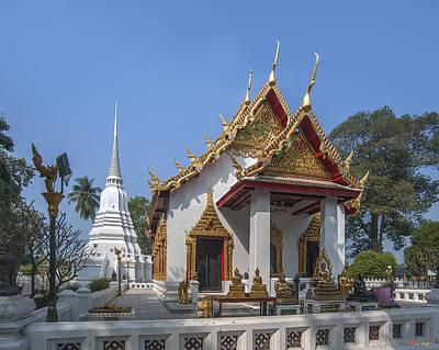 Photograph - Wat Chumphon Nikayaram Phra Ubosot And Phra Chedi Dtha0122 by Gerry Gantt