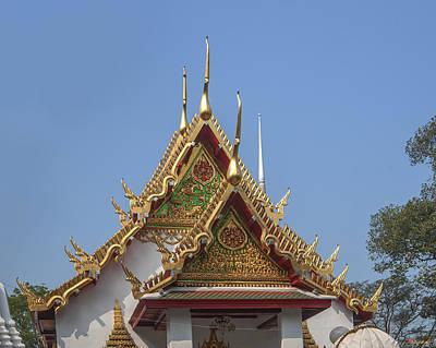 Photograph - Wat Chumphon Nikayaram Phra Ubosot Gables Dtha0125 by Gerry Gantt