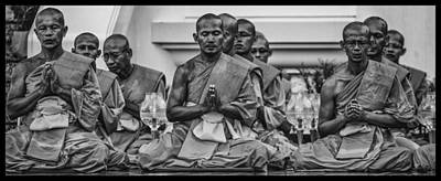 Wat Dhamma Monks Prayers Art Print by David Longstreath