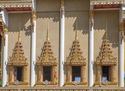 Photograph - Wat Khao Rang Ubosot Windows Dthp0553 by Gerry Gantt