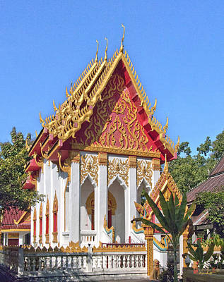 Photograph - Wat Khong Chiam Ubosot Dthu085 by Gerry Gantt