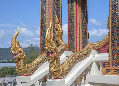 Photograph - Wat Khosit Wihan Ubosot Stair Naga Dthp0578 by Gerry Gantt
