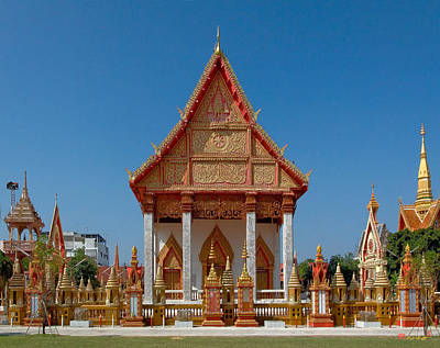 Photograph - Wat Liab Ubosot Dthu035 by Gerry Gantt