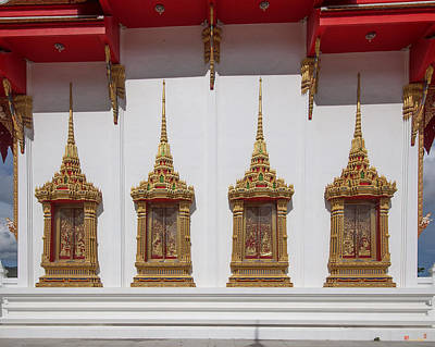 Photograph - Wat Luang Pu Supa Ubosot Windows Dthp333 by Gerry Gantt