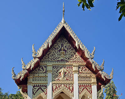 Photograph - Wat Mai Thong Sawang Ubosot Gable Dthu536 by Gerry Gantt