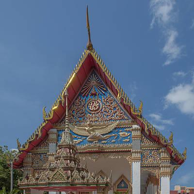 Photograph - Wat Mongkol Nimit Ubosot Gable Dthp0589 by Gerry Gantt